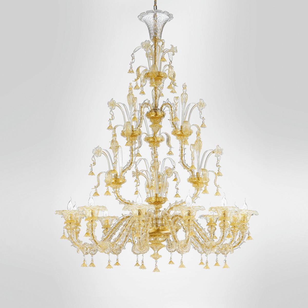 """""""Tabita"""" lampara de araña de Murano - 12 luces - oro"""