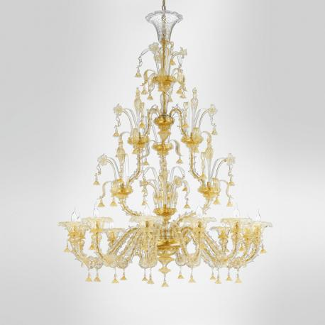 """Tabita"" Murano glass chandelier - 12 lights - gold"