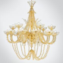 """Miriam "" Murano glass chandelier"