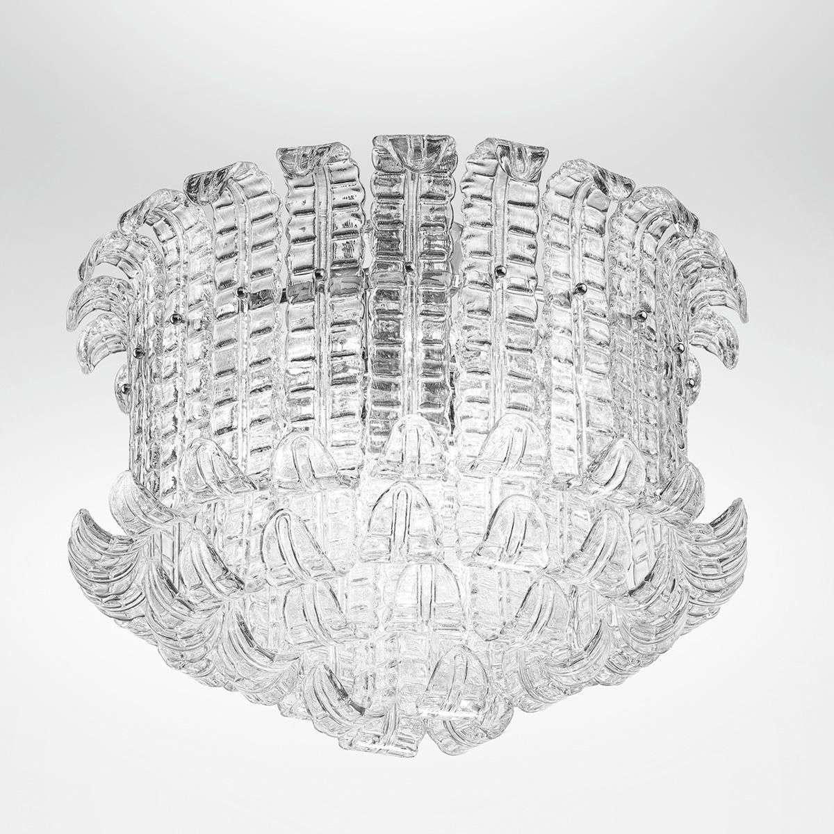 """Maida"" lampara de techo de Murano - 13 luces - transparente"