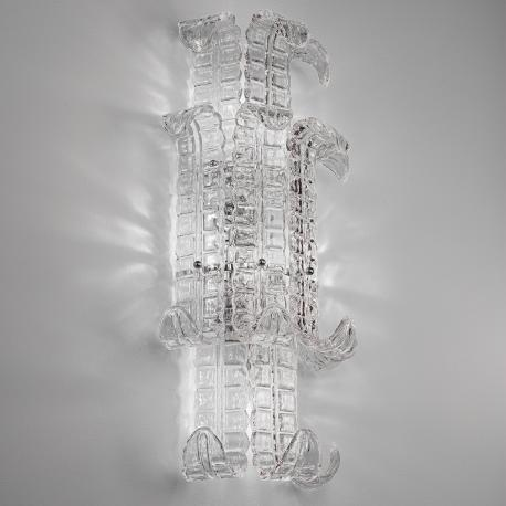 """Maida"" Murano glass sconce - 4 lights - transparent"