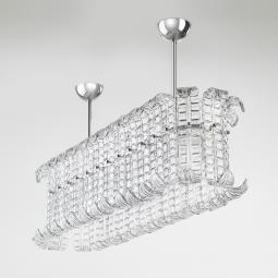 """Maida"" big Murano glass pendant light"