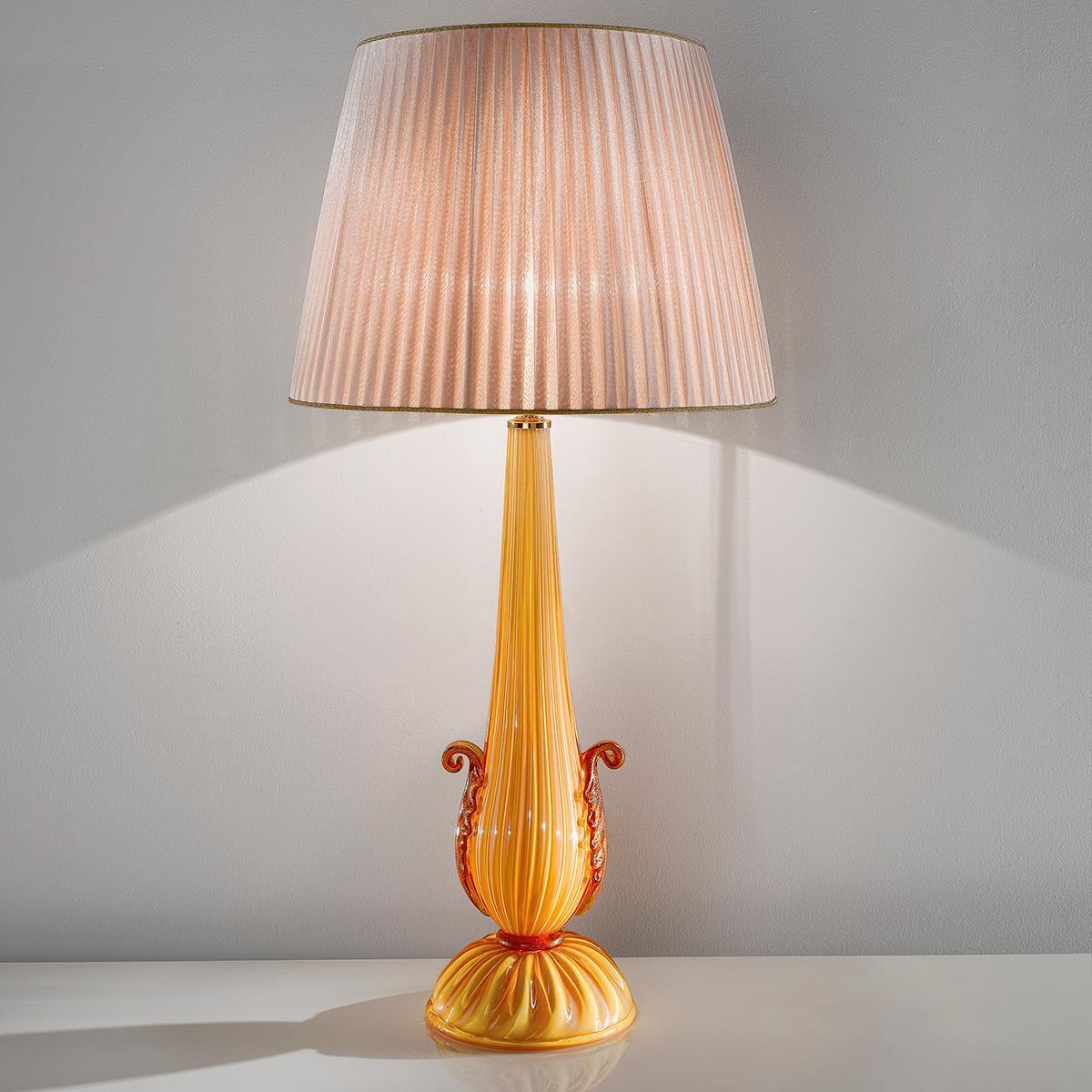 """""""Nunziata"""" Murano glass table lamp - 1 light - amber"""