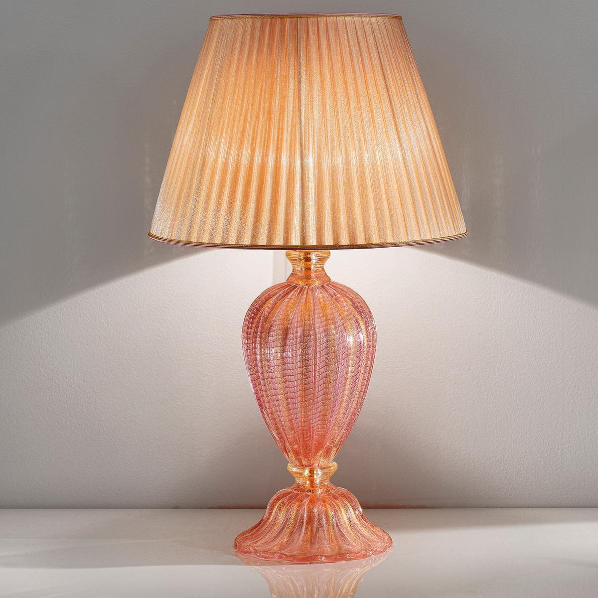 """""""Romina"""" lampe de table en verre de Murano - 1 lumière - rose"""