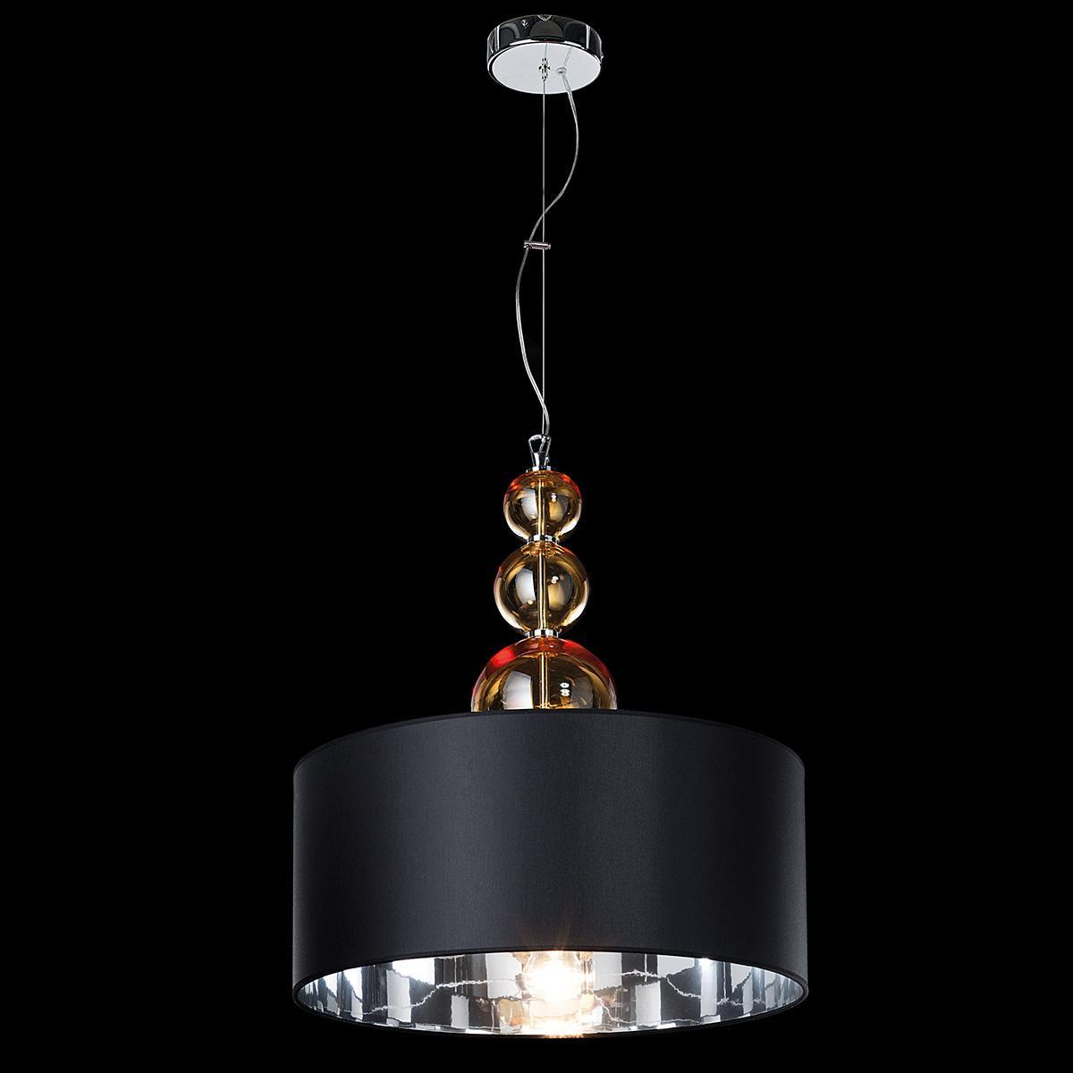 """Santina"" suspension en verre de Murano - 1 lumière - ambre"