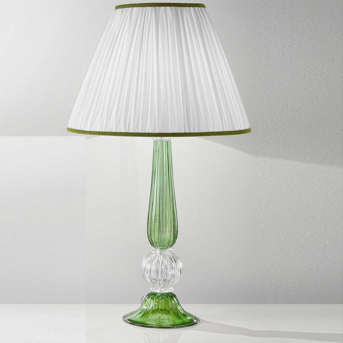 """Raffaella"" lampara de sobremesa de Murano - 1 luce - verde"