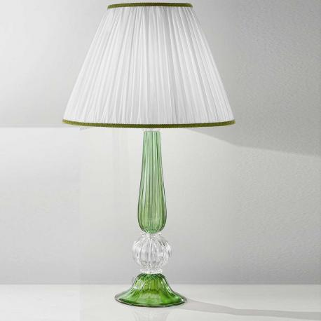 """Raffaella"" Murano glass table lamp - 1 light - green"