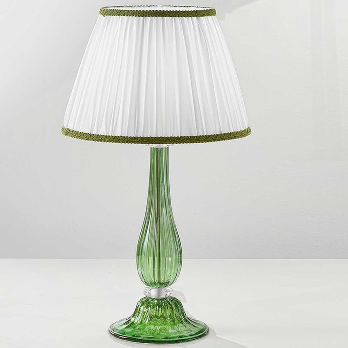 """Raffaella"" lampara de mesita de noche de Murano - 1 luce - verde"