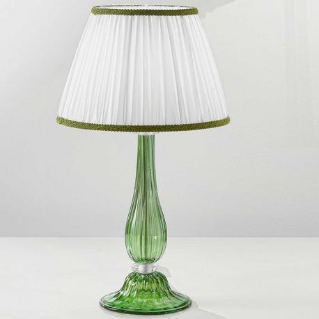 """Raffaella"" Murano glass bedside lamp - 1 light - green"