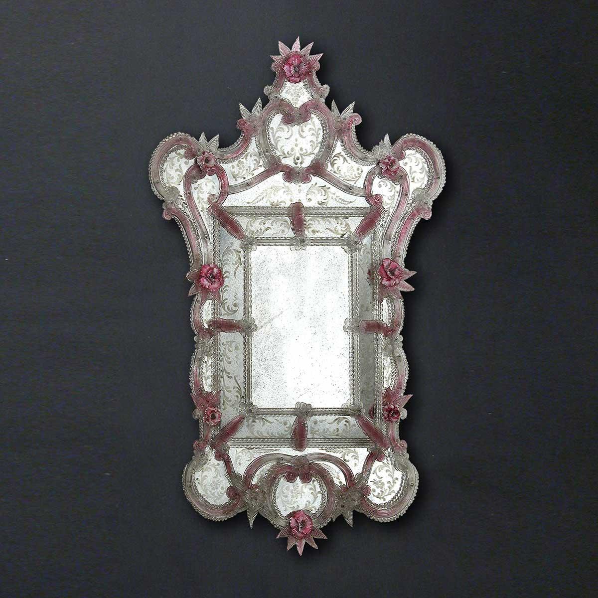 """Sofia"" espejo veneciano de cristal de Murano"