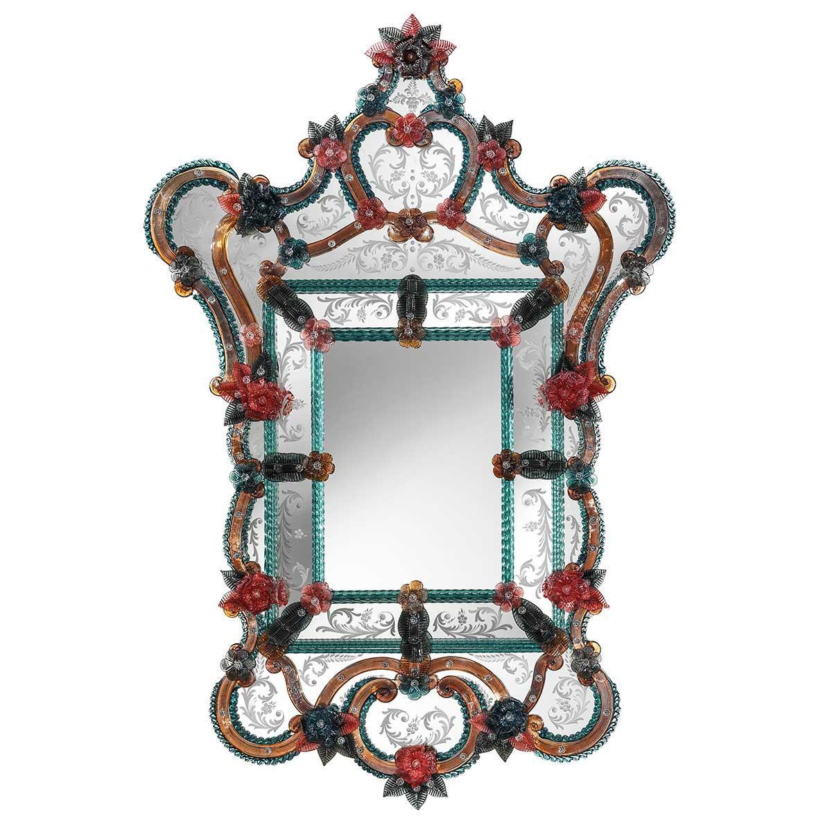 """Livia"" espejo veneciano de cristal de Murano"