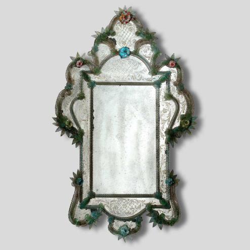 """""""Tamara """" espejo veneciano de cristal de Murano"""
