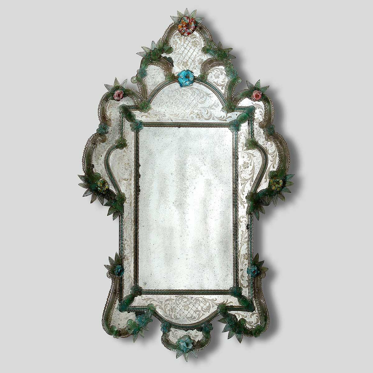 """""""Tamara """" Murano glass venetian mirror"""
