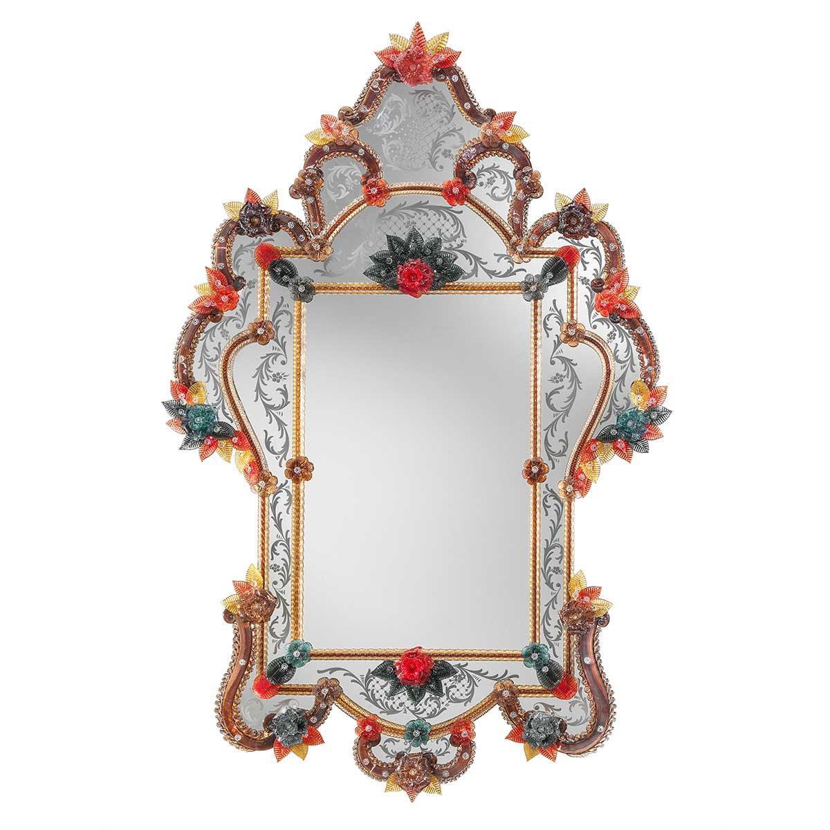 """Giulia"" Murano glass venetian mirror"