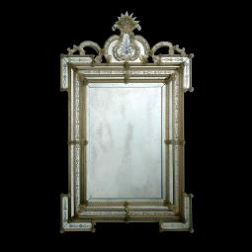 """""""Clelia """" espejo veneciano de cristal de Murano"""