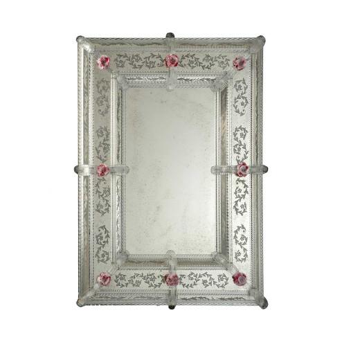 """""""Lorella """" espejo veneciano de cristal de Murano"""