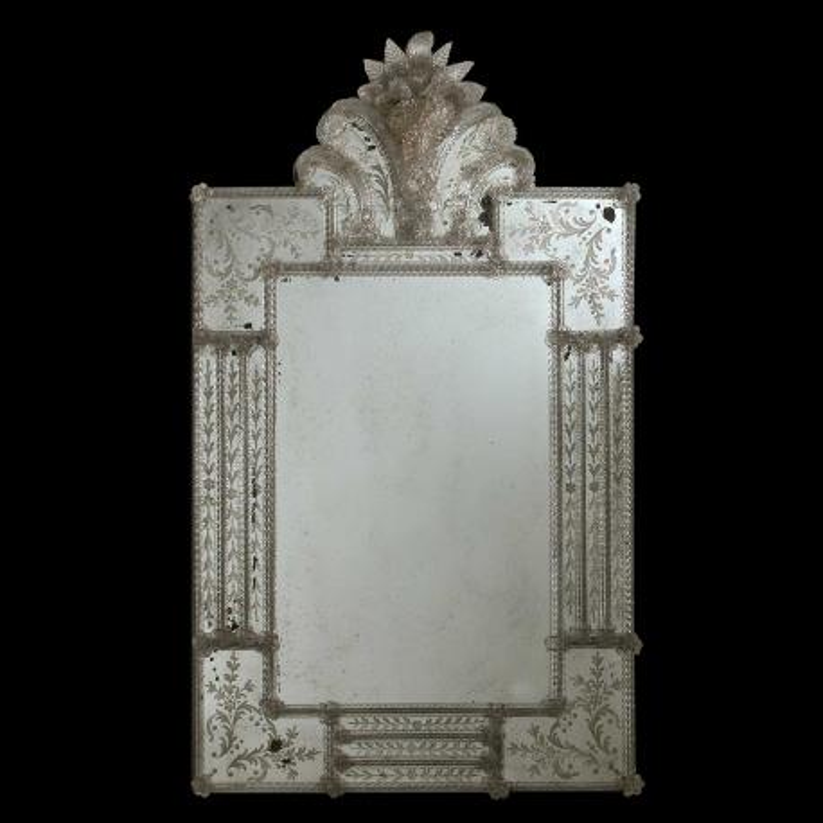 """""""Alice """" espejo veneciano de cristal de Murano"""