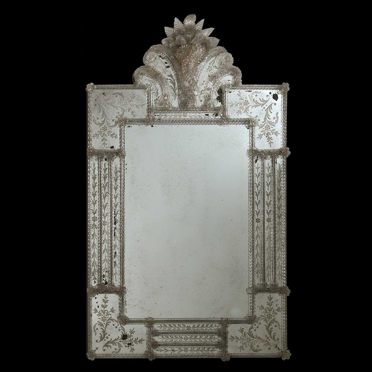 """Alice "" Murano glass venetian mirror"