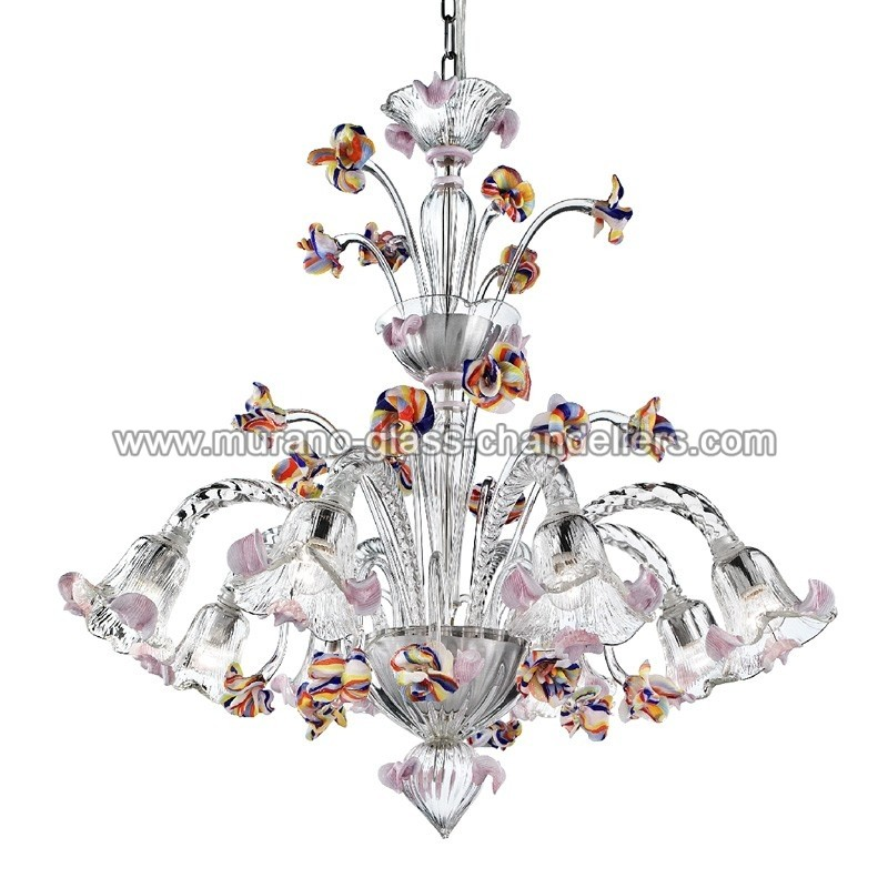 carnevale lustre en cristal de murano murano glass chandeliers. Black Bedroom Furniture Sets. Home Design Ideas