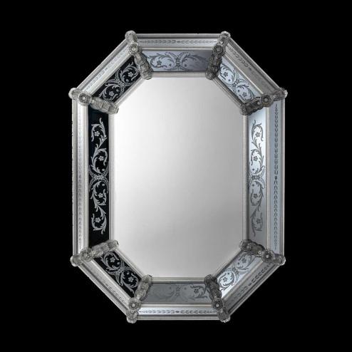 """""""Concetta """" espejo veneciano de cristal de Murano"""