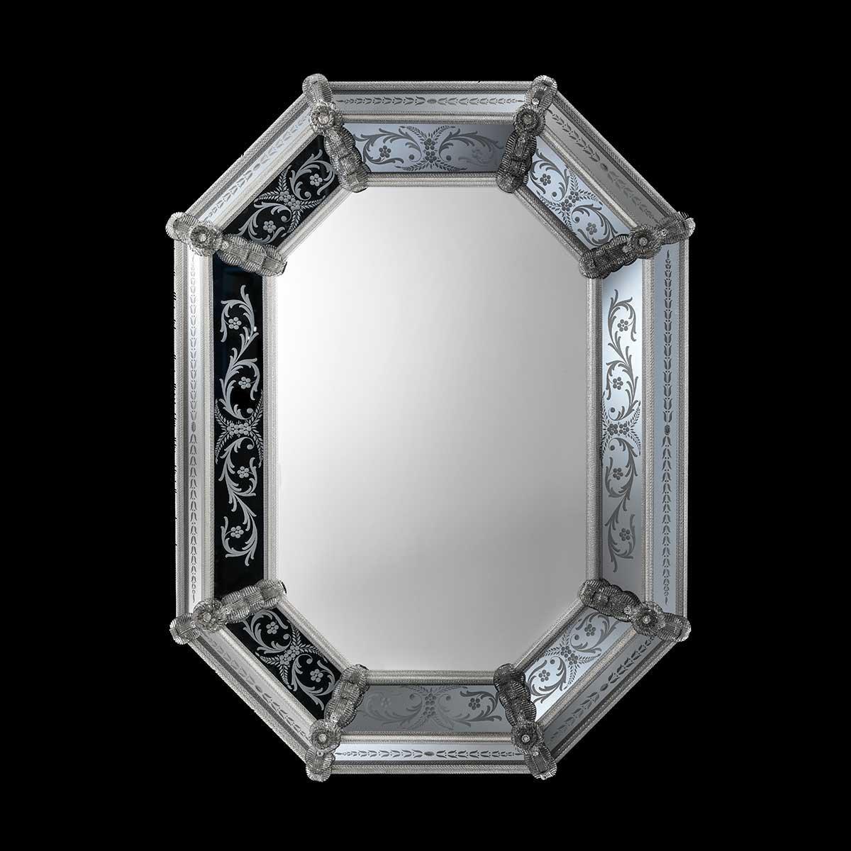 """Concetta "" miroir vénitien en verre de Murano"