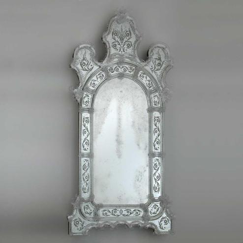 """""""Vanna """" miroir vénitien en verre de Murano"""