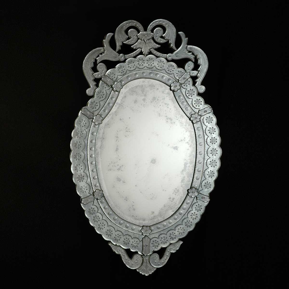 """""""Giorgia """" espejo veneciano de cristal de Murano"""