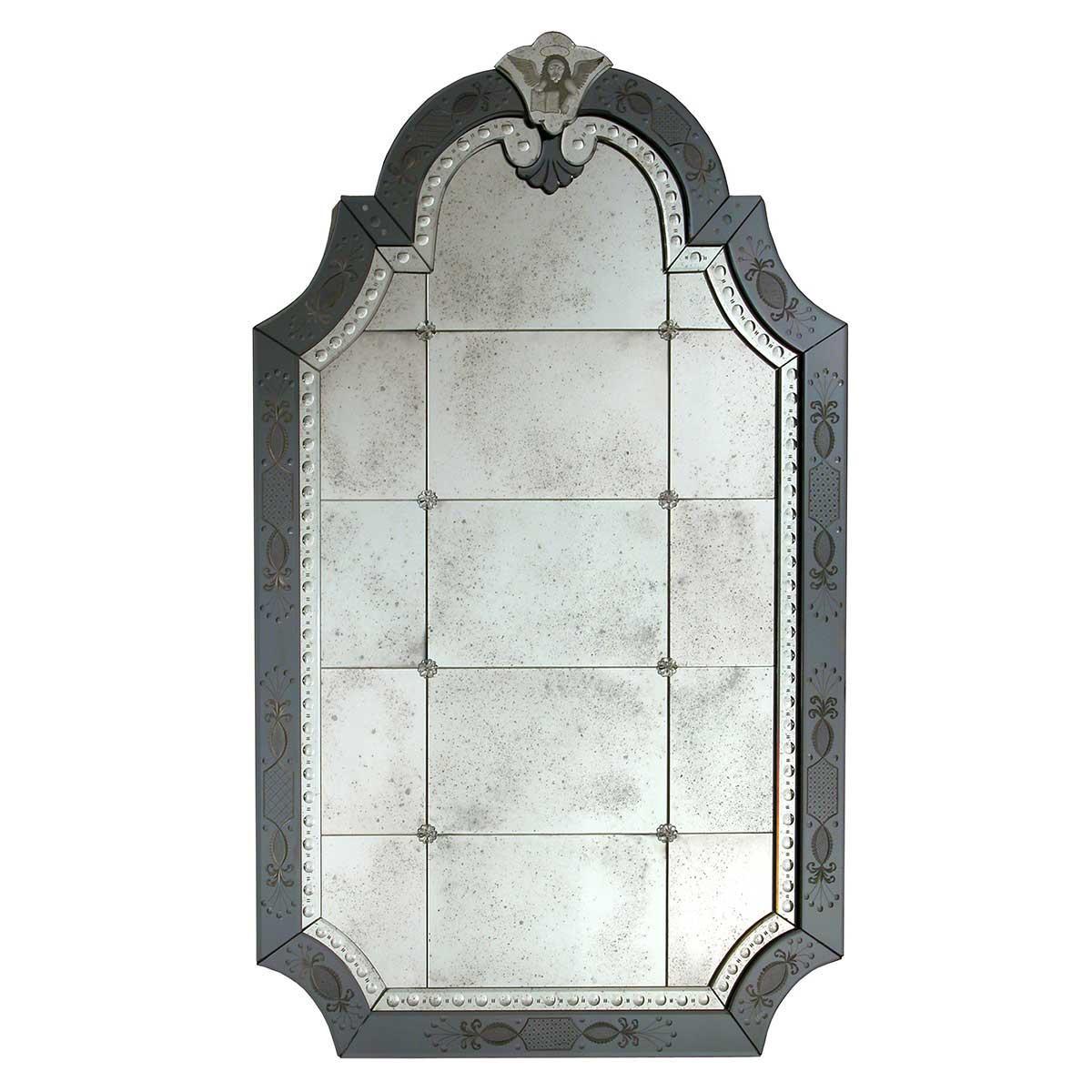 """""""Nicoletta"""" espejo veneciano de cristal de Murano"""