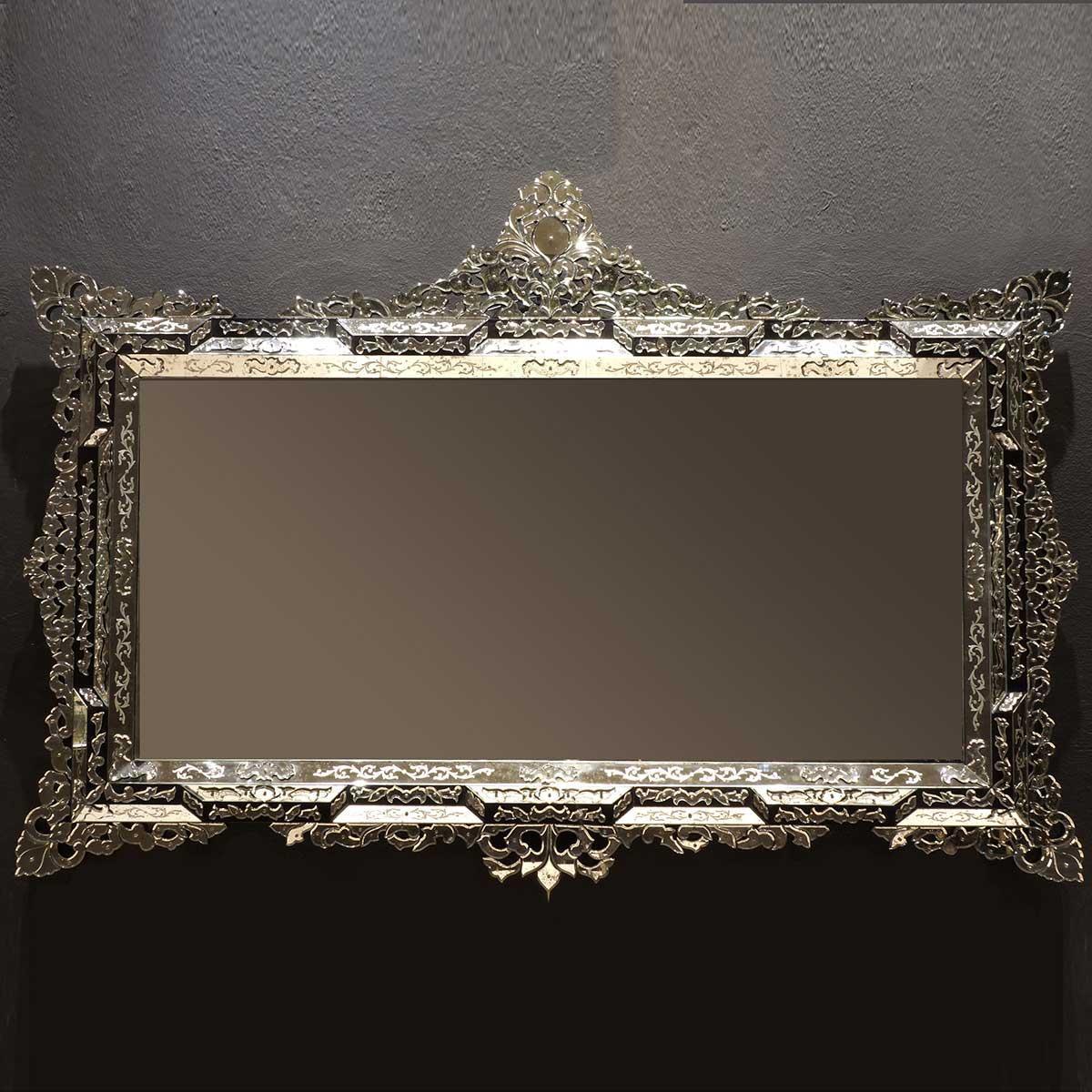"""""""Lorenza """" espejo veneciano de cristal de Murano"""