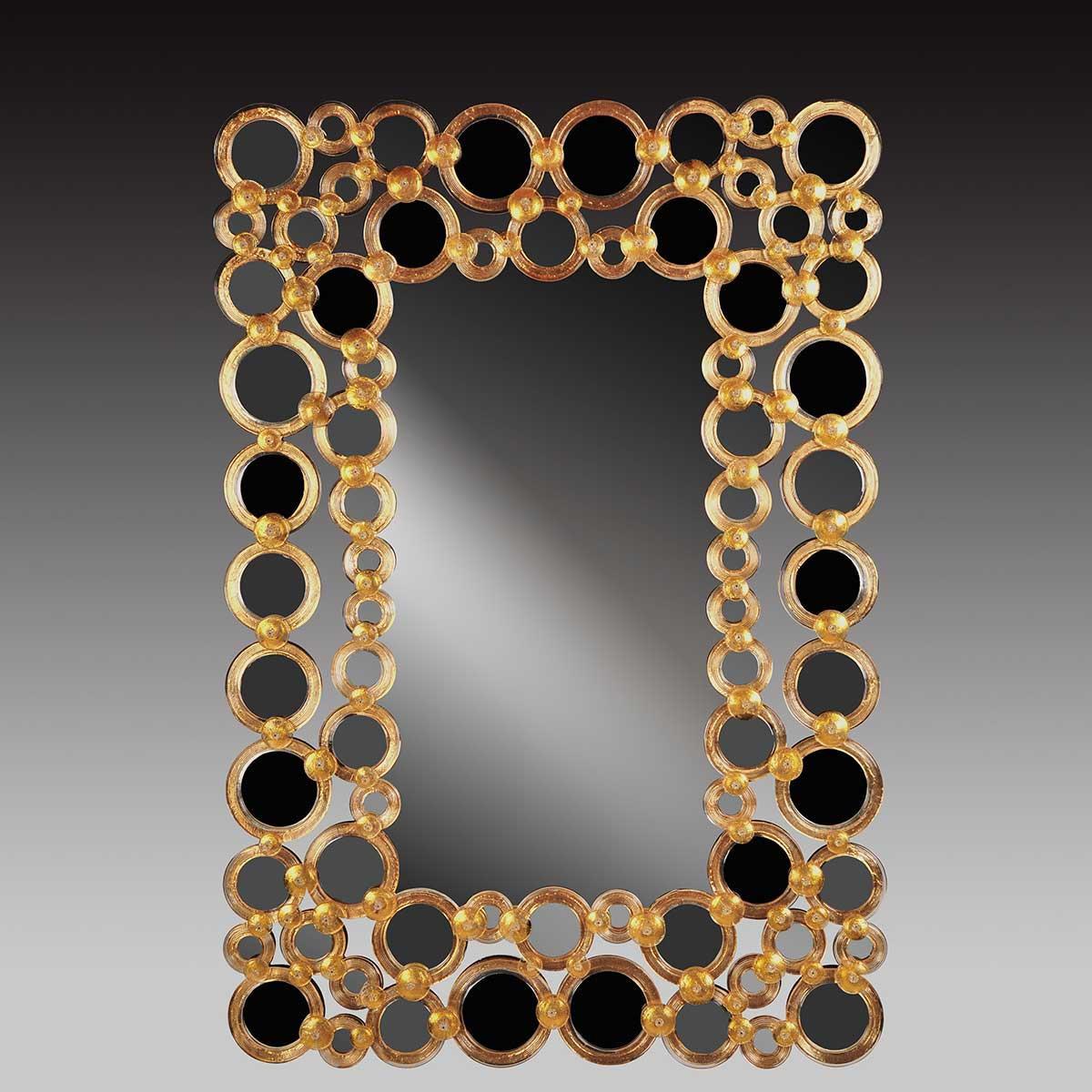 """""""Wanda """" miroir vénitien en verre de Murano"""