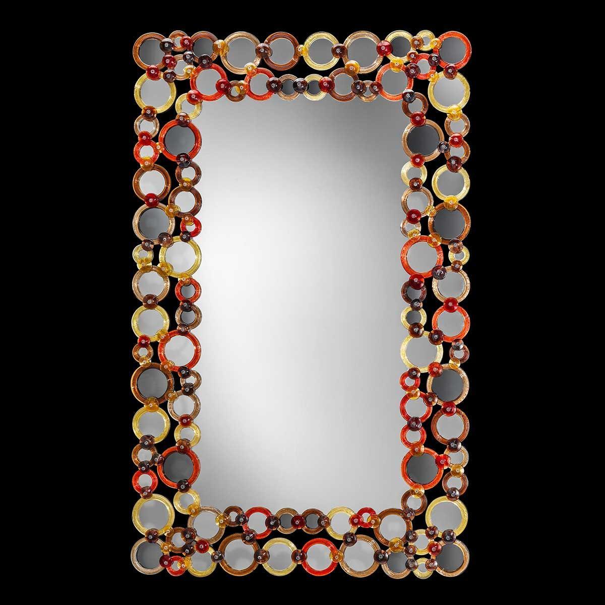 """""""Greta"""" espejo veneciano de cristal de Murano"""