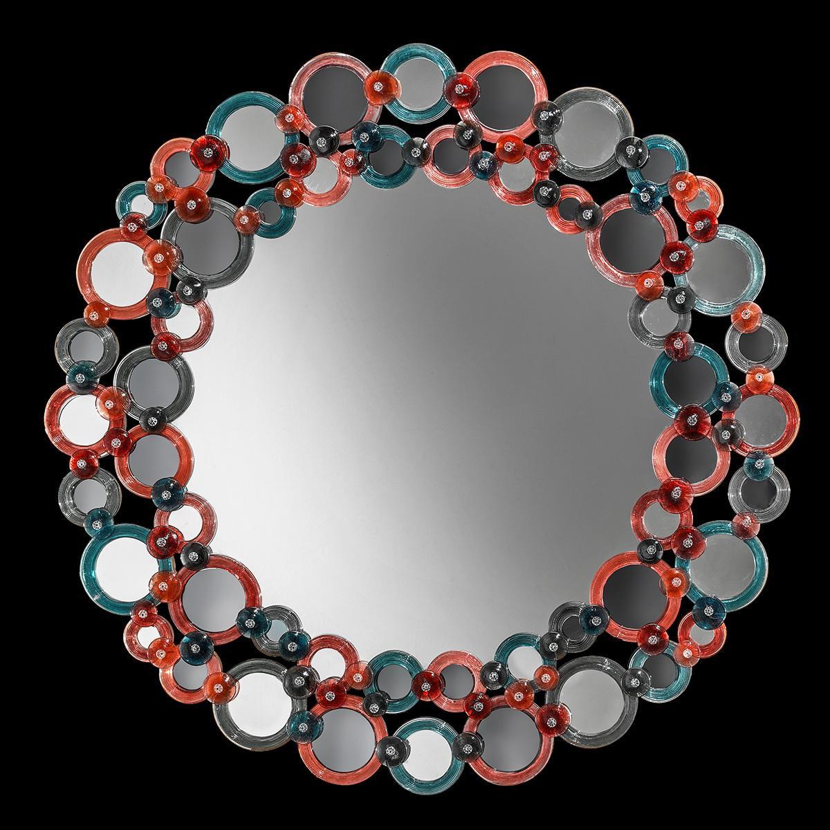 """""""Lodovica """" miroir vénitien en verre de Murano"""