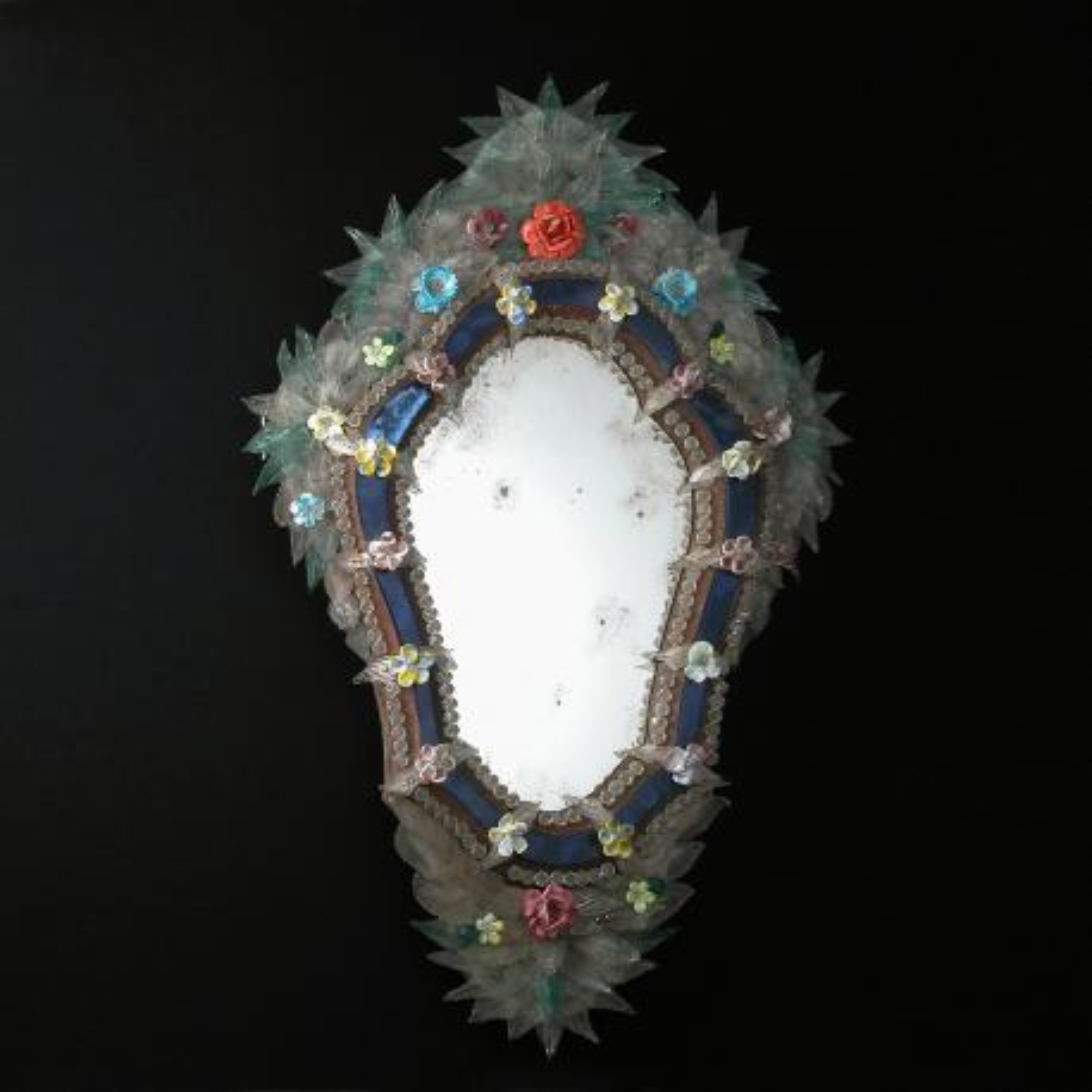 """""""Cristina """" espejo veneciano de cristal de Murano"""