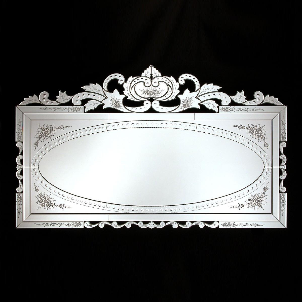"""""""Valeriana """" miroir vénitien en verre de Murano"""