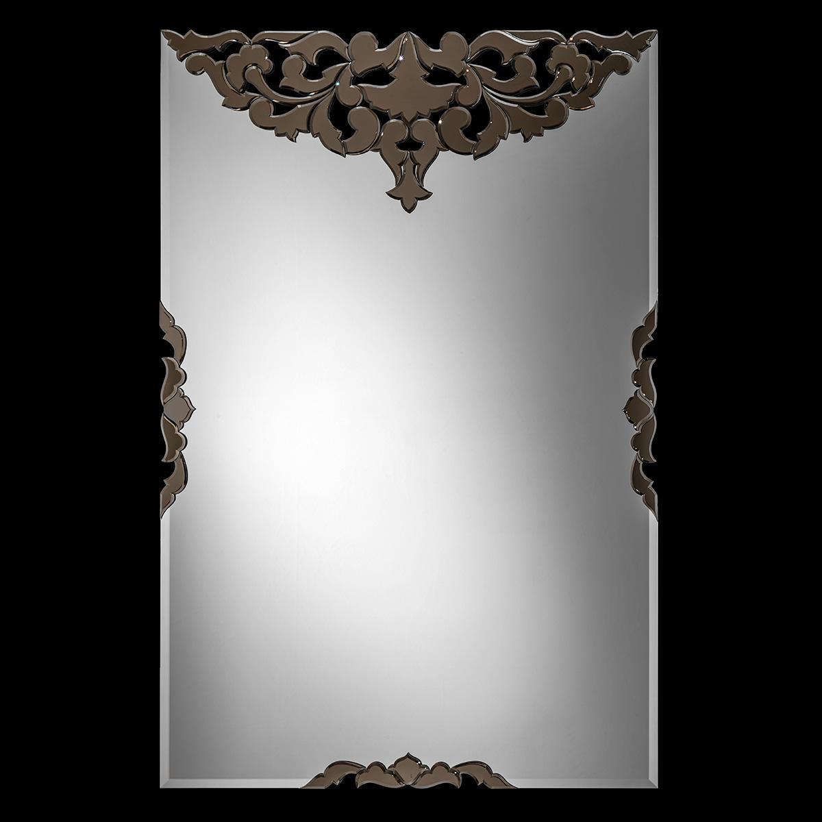 """""""Chiara"""" espejo veneciano de cristal de Murano"""