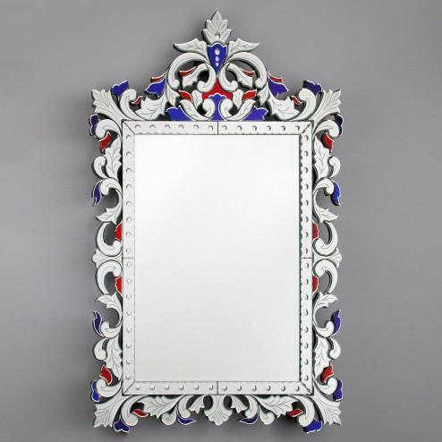 """Francesca "" espejo veneciano de cristal de Murano"