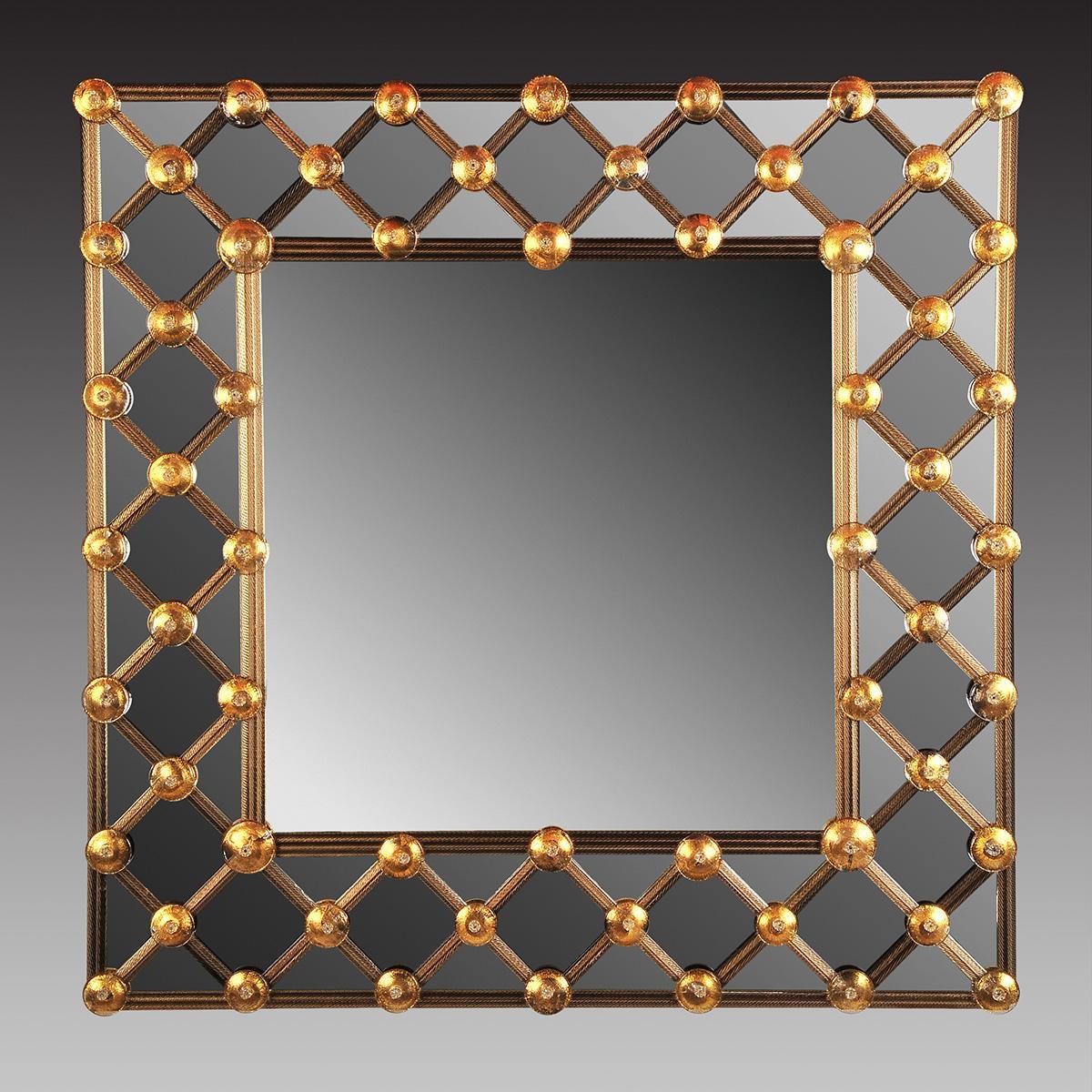 """""""Lea """" miroir vénitien en verre de Murano"""