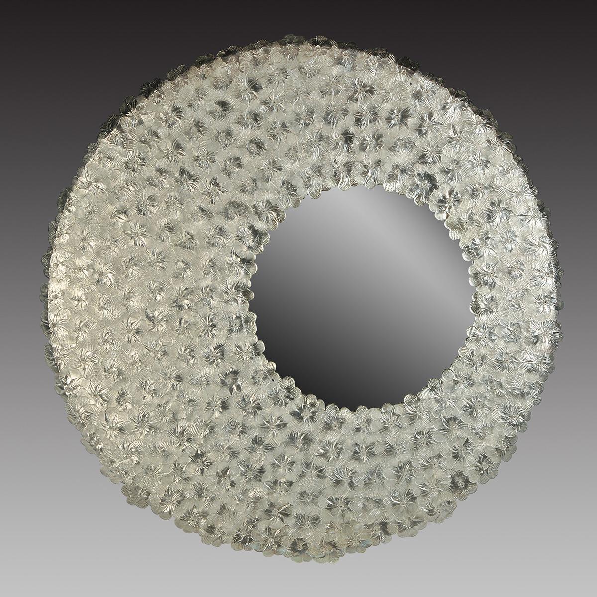 """Luna"" Murano glass venetian mirror"