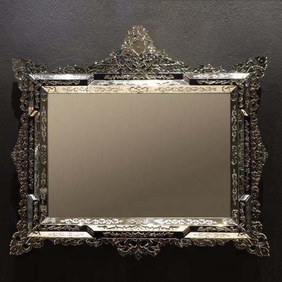 """""""Lorenzo"""" miroir vénitien en verre de Murano"""