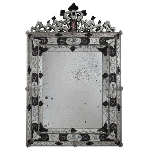 """""""Alessia """" espejo veneciano de cristal de Murano"""