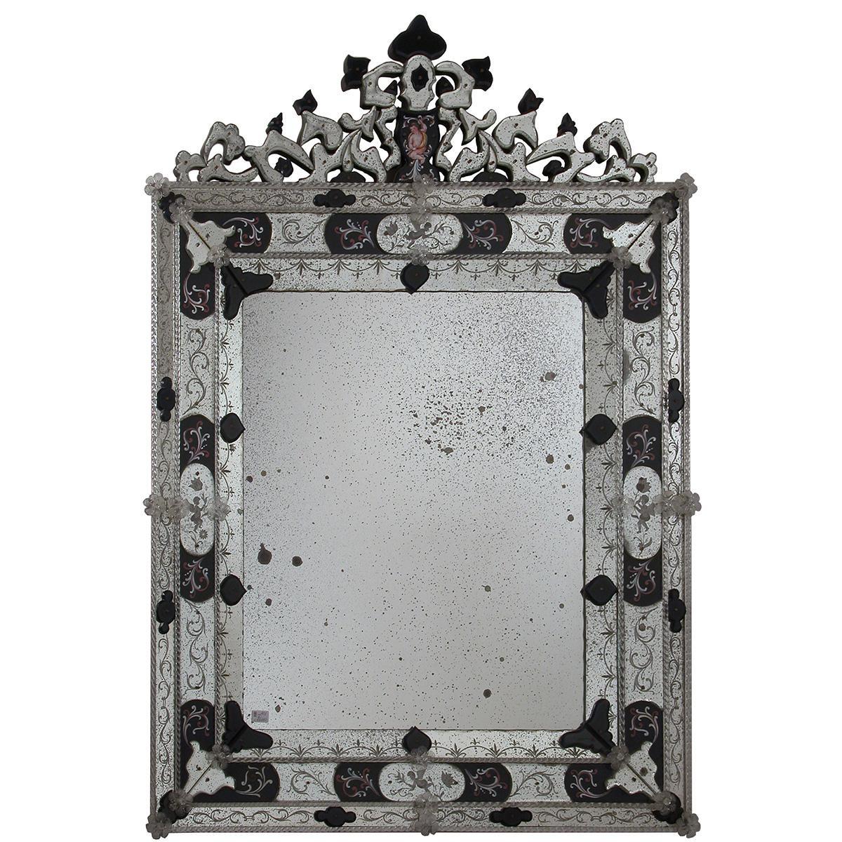 """""""Alessia """" Murano glass venetian mirror"""