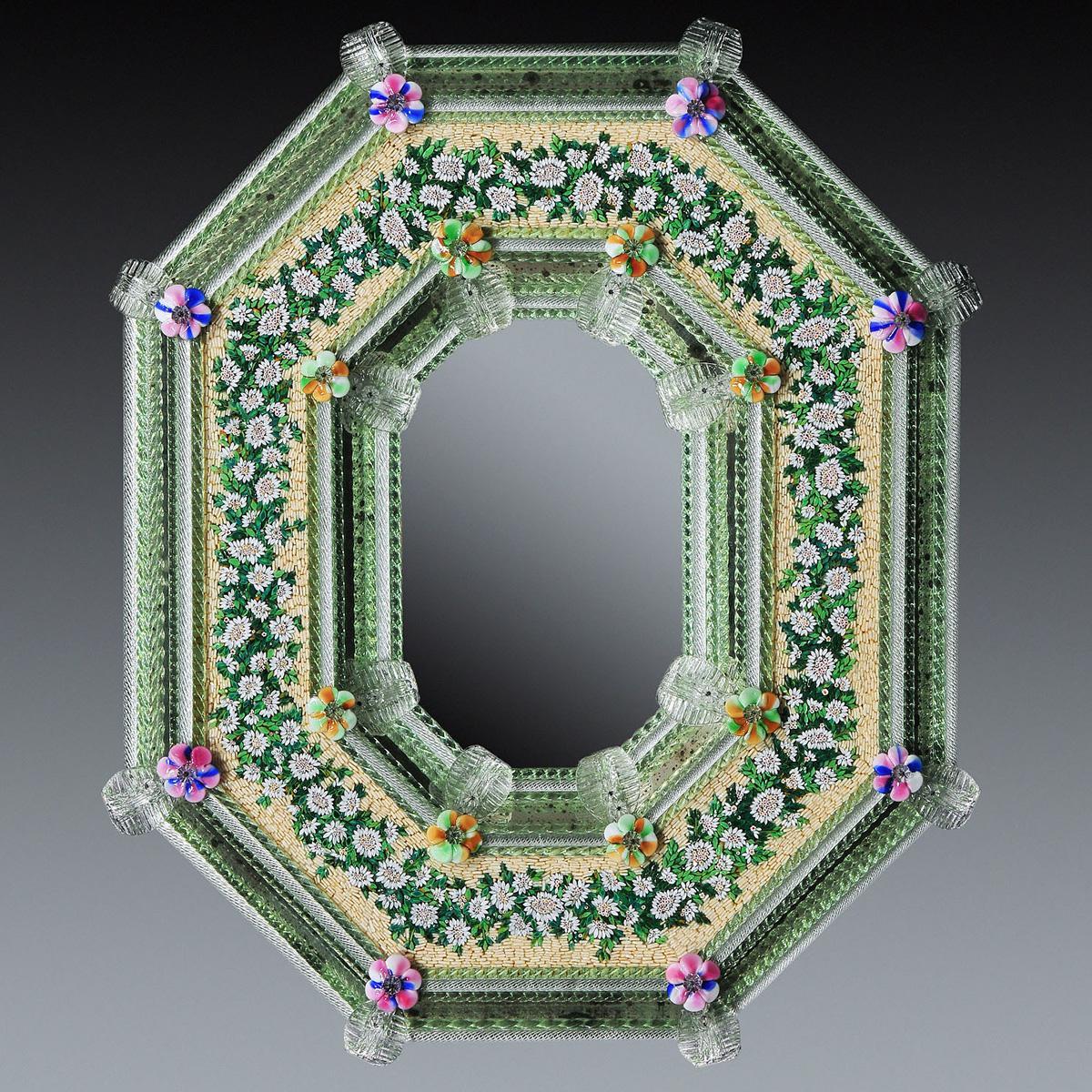 """Estella "" miroir vénitien en verre de Murano"