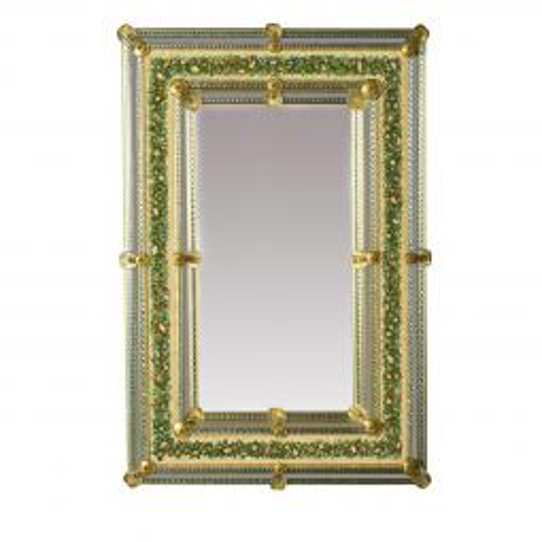 """""""Nicole """" espejo veneciano de cristal de Murano"""