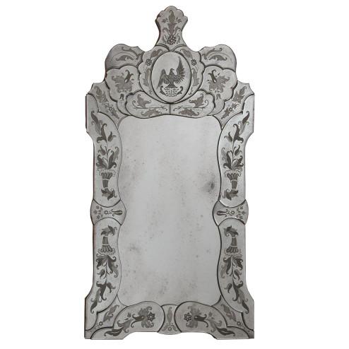 """""""Ada """" miroir vénitien en verre de Murano"""