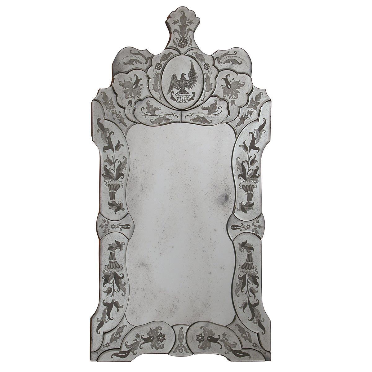 """""""Ada """" espejo veneciano de cristal de Murano"""