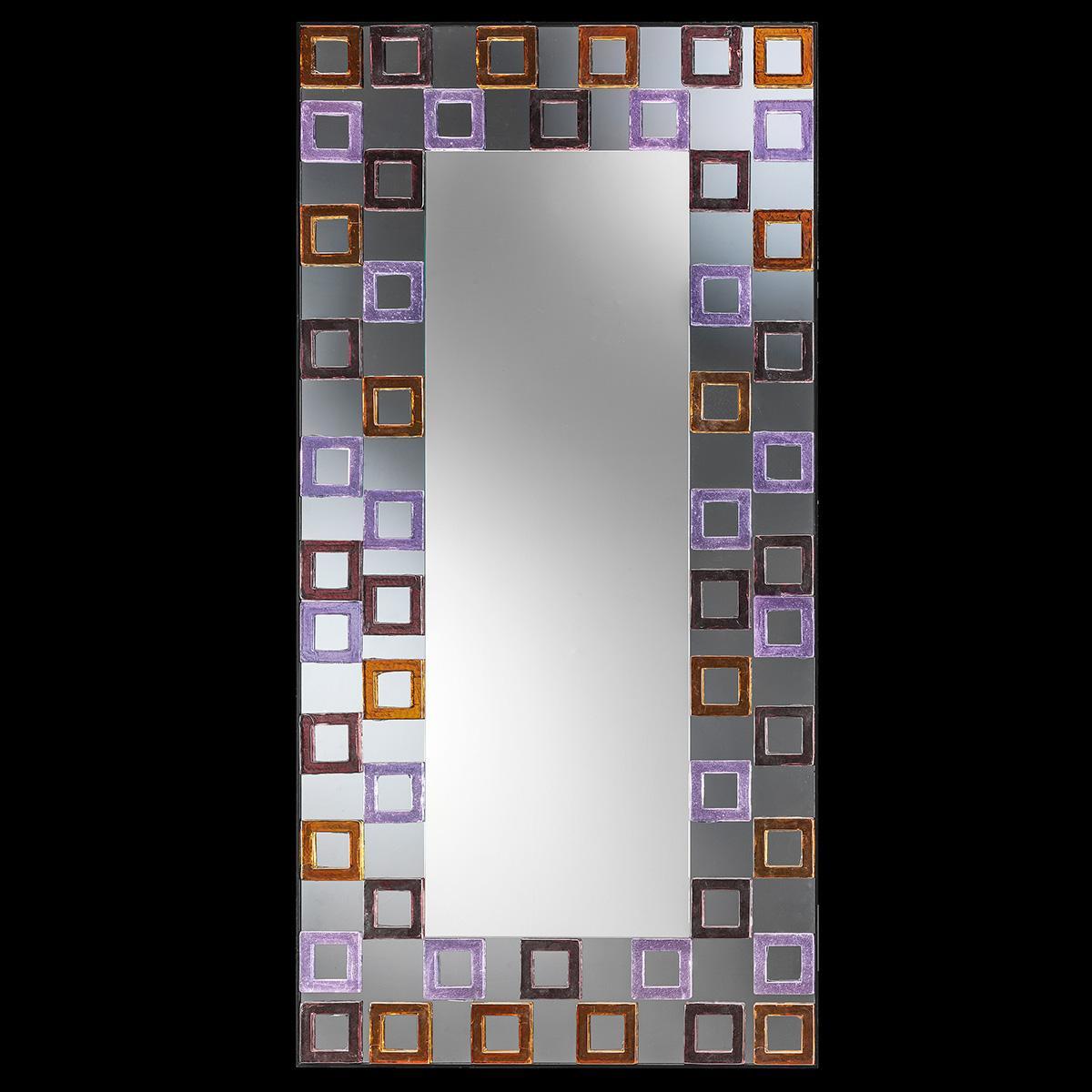 """""""Editta """" espejo veneciano de cristal de Murano"""