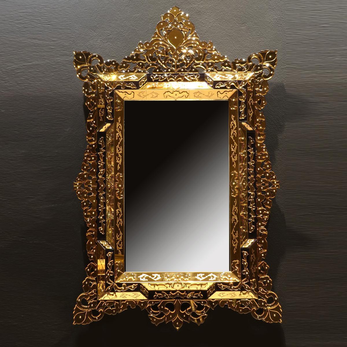 """Aladina"" espejo veneciano de cristal de Murano"