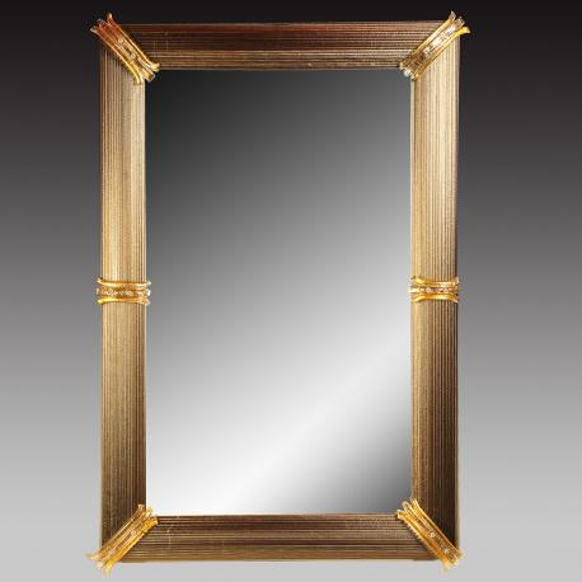 """""""Rosita """" miroir vénitien en verre de Murano"""