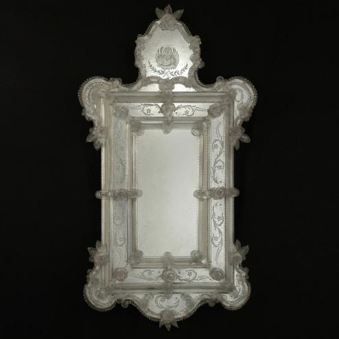 """Egidia"" espejo veneciano de cristal de Murano"