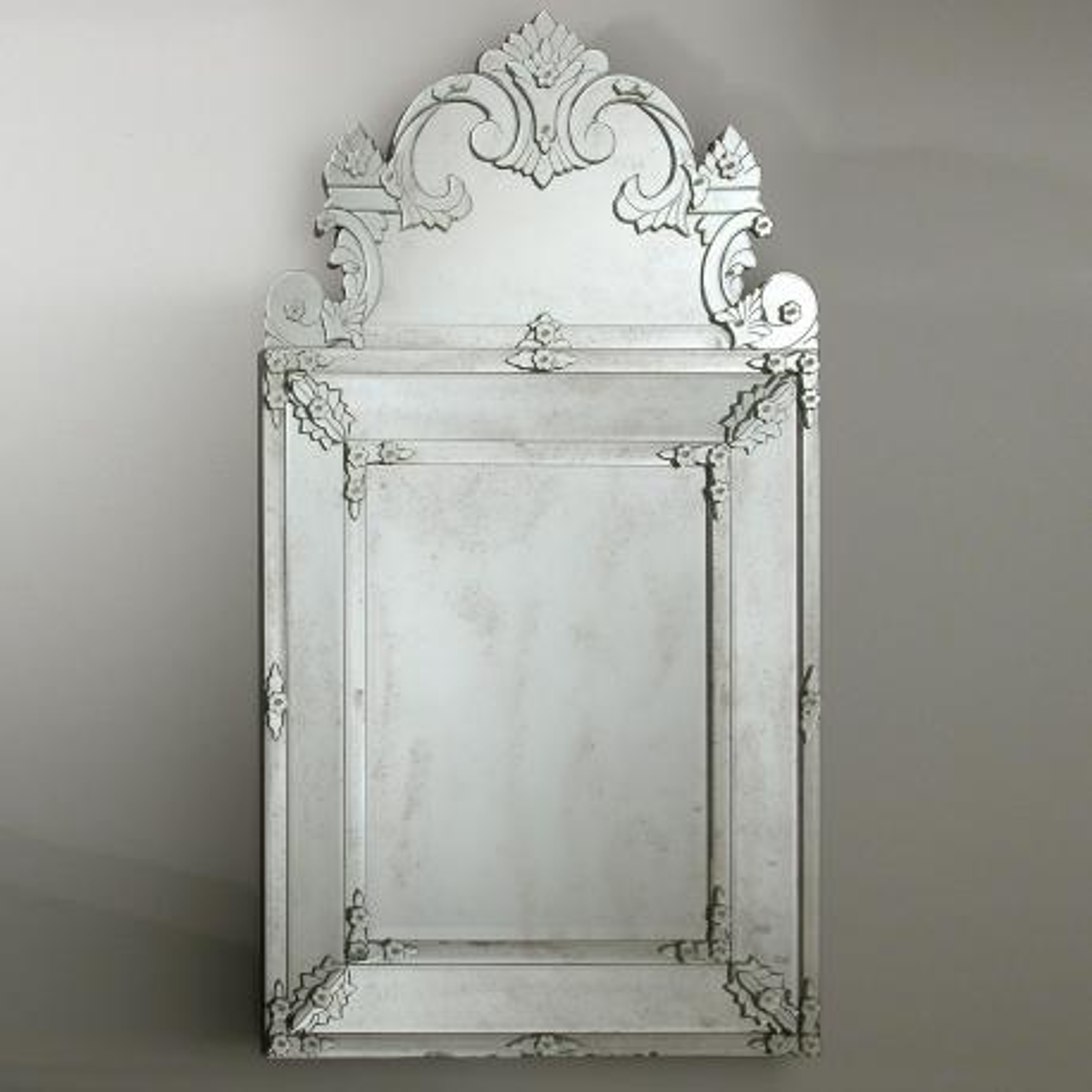 """Floridia "" espejo veneciano de cristal de Murano"